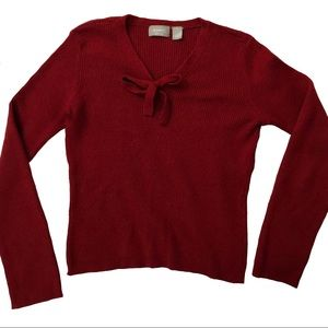 Old Navy wool-blend bow top